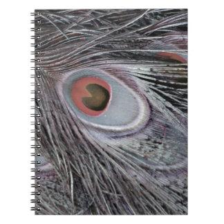 Caderno Espiral Pena cinzenta da sombra