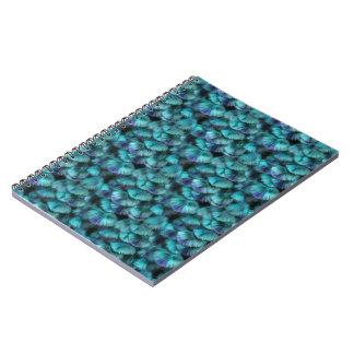 Caderno Espiral Penas do azul do Isis da deusa