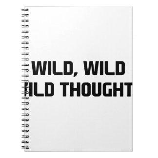 Caderno Espiral Pensamentos selvagens selvagens