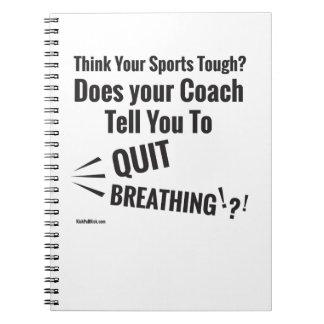 Caderno Espiral Pense seus esportes duros?