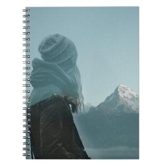 Caderno Espiral Perdendo-se em você fotografia da exposição dobro
