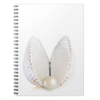 Caderno Espiral Pérola e seashell