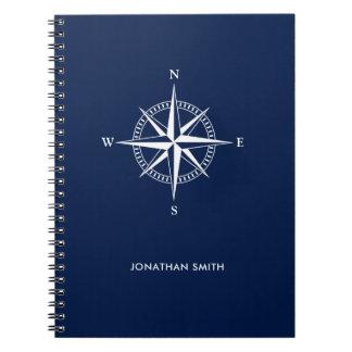 Caderno espiral personalizado da estrela náutica