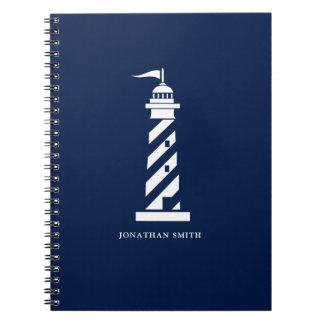 Caderno espiral personalizado do farol