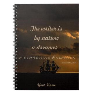 Caderno Espiral Personalized|| o escritor é um sonhador consciente
