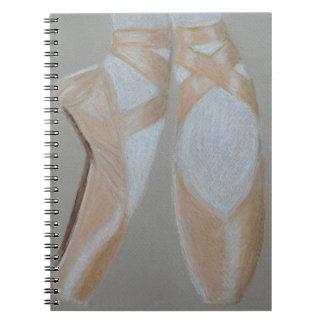 Caderno Espiral Pés do balé de Pointe