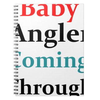 Caderno Espiral Pescador do bebê que vem completamente