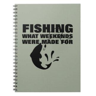 Caderno Espiral Pescadores que pescam o slogan engraçado temático