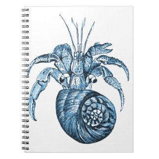 Caderno Espiral Pesque presentes náuticos litorais do azul do mar