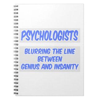Caderno Espiral Piada do psicólogo. Gênio e demência