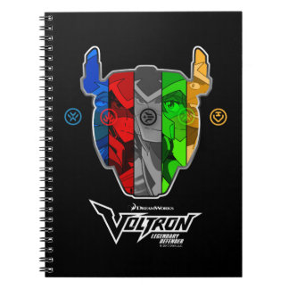 Caderno Espiral Pilotos de Voltron | na cabeça de Voltron