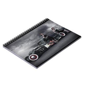Caderno Espiral Pin tormentoso do camionete de Rod do rato da