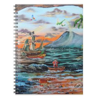 Caderno Espiral Pintura de Bell do funileiro da angra do gancho de