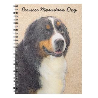 Caderno Espiral Pintura do cão de montanha de Bernese 2 - arte