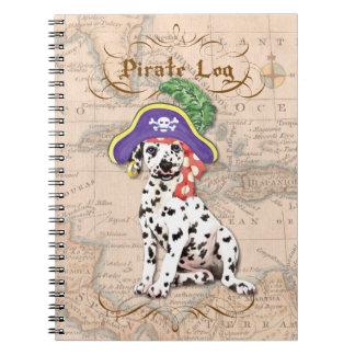 Caderno Espiral Pirata Dalmatian