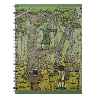 Caderno Espiral Pisco de peito vermelho em Sherwood