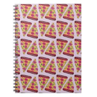 Caderno Espiral pizza floral