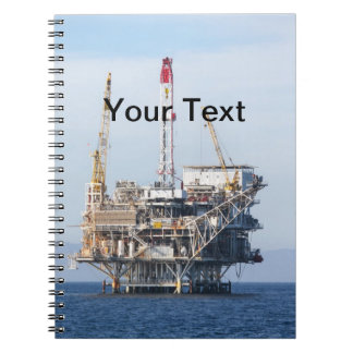 Caderno Espiral Plataforma petrolífera