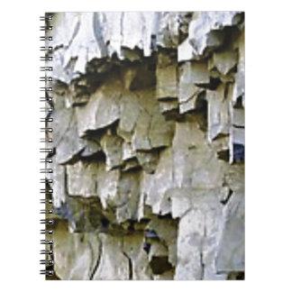 Caderno Espiral plissados aleatórios da rocha