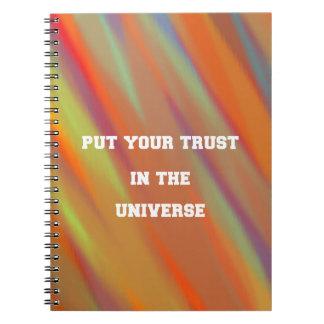 Caderno Espiral Pnha sua confiança no universo