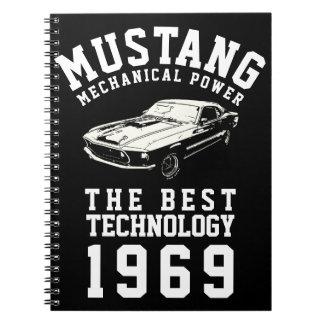 Caderno Espiral Poder mecânico do mustang