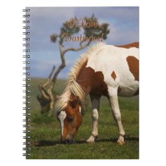 Caderno Espiral Pônei selvagem Loveable em Dartmoor