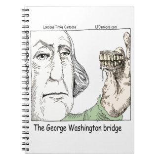 Caderno Espiral Ponte de George Washington & presente engraçado