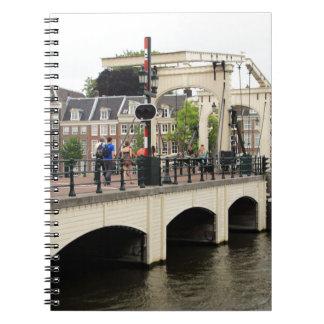 Caderno Espiral Ponte magro, Amsterdão, Holland