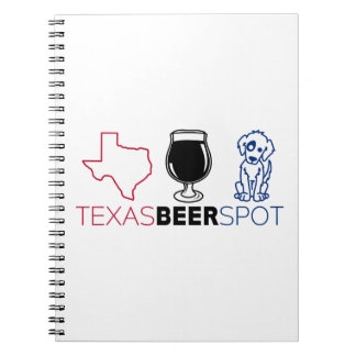 Caderno Espiral Ponto da cerveja de Texas