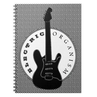 Caderno Espiral Pontos legal da música rock elétrica da guitarra