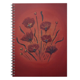 Caderno Espiral poppies