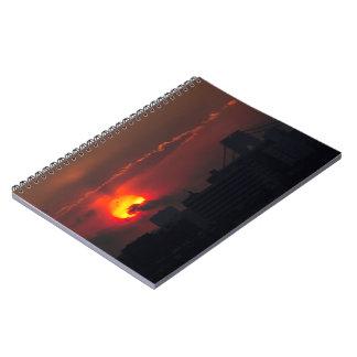 Caderno Espiral Por do sol de Bronx