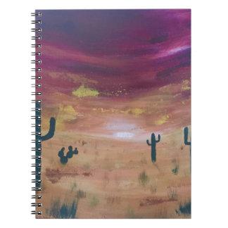Caderno Espiral Por do sol do deserto