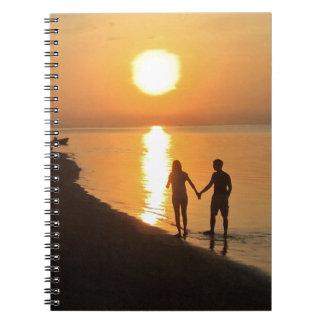 Caderno Espiral Por do sol em Bali