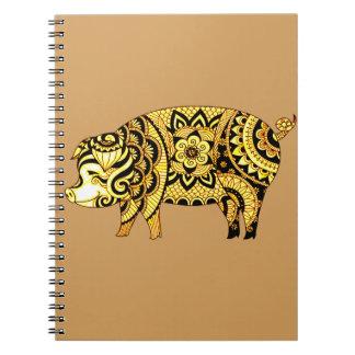Caderno Espiral Porco