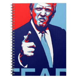 "Caderno Espiral Poster 2017 da paródia do ""medo"" de Donald Trump"