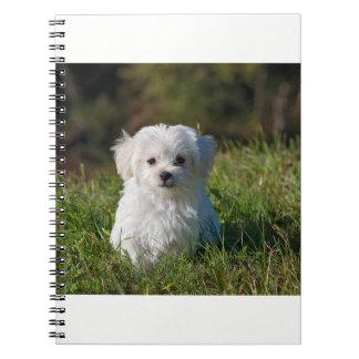 Caderno Espiral Poster bonito do filhote de cachorro - BrandinUSA
