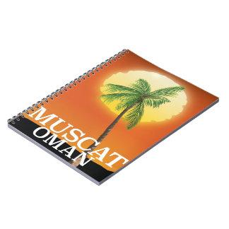 Caderno Espiral Poster das férias de Muscat Oman