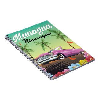 Caderno Espiral Poster de viagens de Managua - de Nicarágua