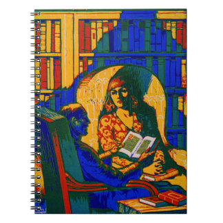 Caderno Espiral Poster retro 1920 dos livros
