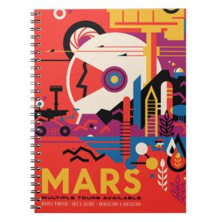 Caderno Espiral Poster retro das férias dos locais históricos de