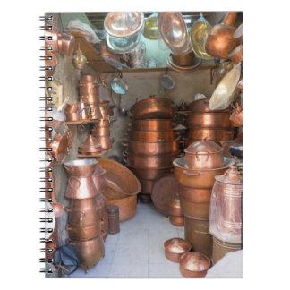 Caderno Espiral Potes de cobre no mercado