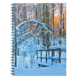 Caderno Espiral Pouca ponte nas madeiras