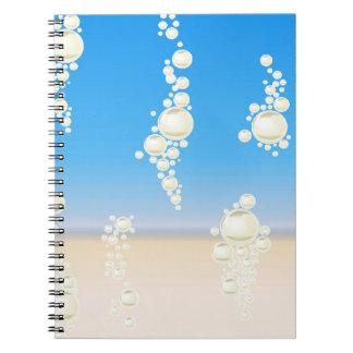Caderno Espiral Praia com bolhas
