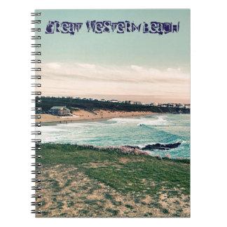 Caderno Espiral Praia Newquay de Great Western
