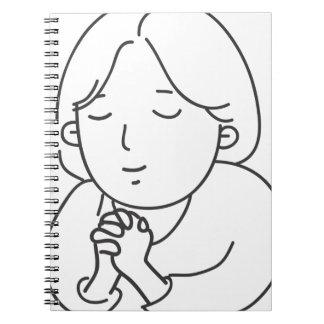 Caderno Espiral Praying