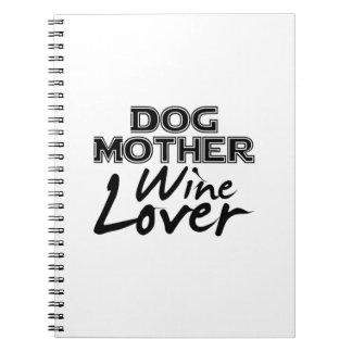 Caderno Espiral Presente engraçado da mamã do amante de vinho da