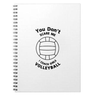 Caderno Espiral Presente engraçado do treinador do voleibol você