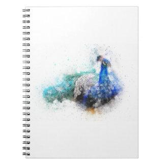 Caderno Espiral Presentes do pavão