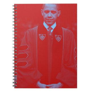 Caderno Espiral Presidente Barack Obama na universidade 2. de